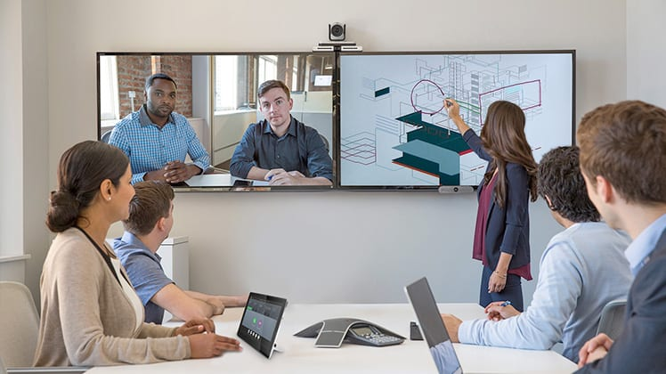 Cloud Video Conference in Meeting Room