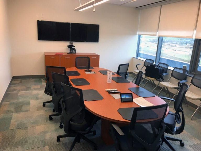 Conference room at FAA in Texas