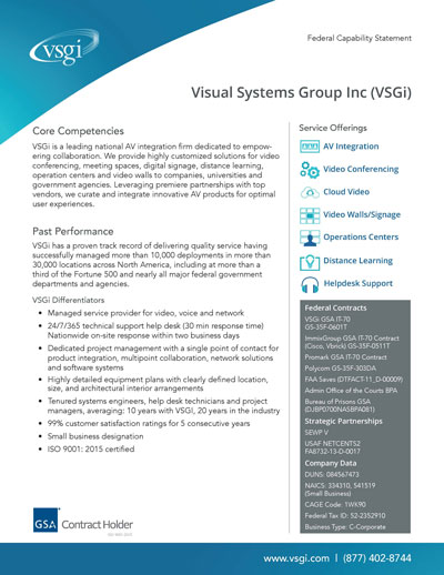 VSGi Federal Capabilities Overview