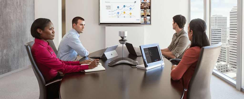 Conference using Microsoft Teams and Poly Technology