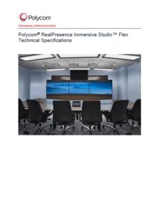 Datasheet - Poly RealPresence Immersive Studio Flex