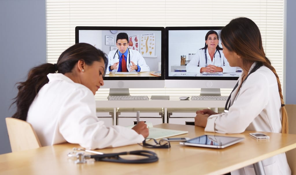 Doctors Using Video Conferencing