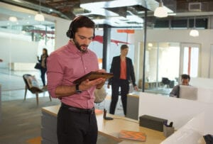 Noise cancellation headphones help you stay focused